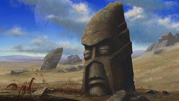 Так художник представил себе погибшую инопланетную цивилизацию, уничтоженную глобальным потеплением