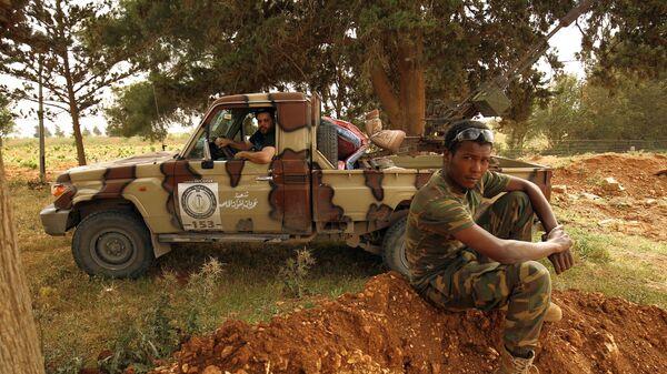 Ливийские военные, подчиненные верховному главнокомандующему вооруженных сил Ливии Халифу Хафтару