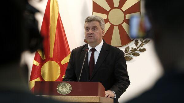 Президент Македонии Георге Иванов, архивное фото