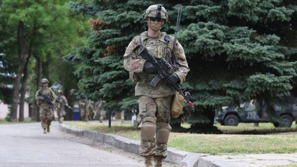 Американские военные во время учений Saber Strike 2018 в Литве. Архивное фото