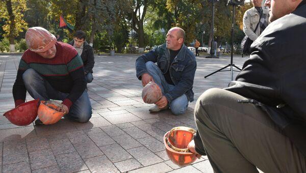 Акция протеста шахтеров. Архивное фото