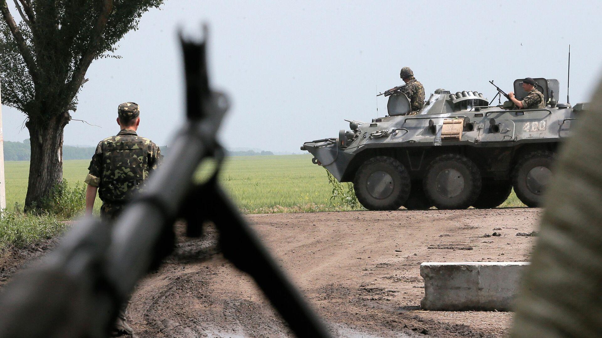 Украинские военные в зоне конфликта на востоке Украины - РИА Новости, 1920, 31.07.2021
