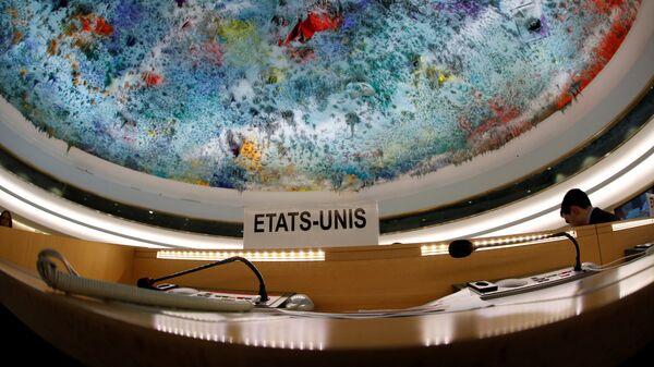 Пустые места делегации США на сессии Совета по правам человека при ООН в Женеве