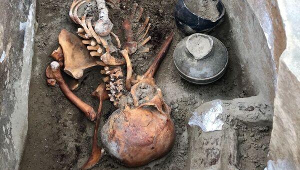 Мумия, найденная на территории могильника Терезин