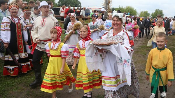 Участники фестиваля Я - русский крестьянин в Белгородской области