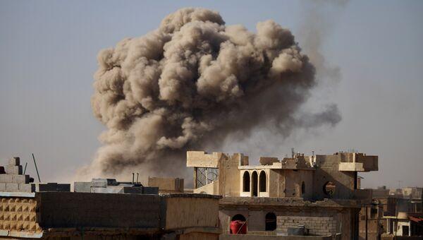 Авиаудары по повстанческим городам на юге Сирии. Архивное фото