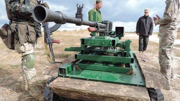 Испытания украинского роботизированного надзорно-огневго комплекса Охотник