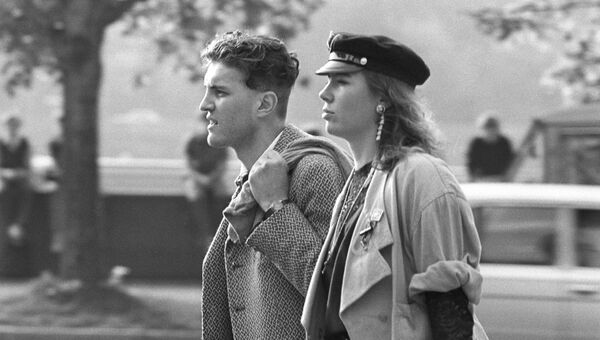 Двое. Фотограф Игорь Гаврилов. Москва, 1990-е