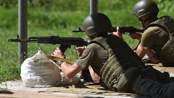 Резервисты Национальной гвардии Украины на сборах во Львовской области
