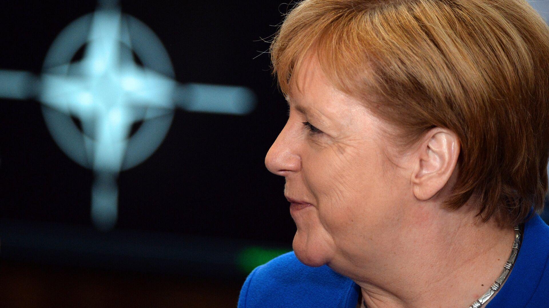 Канцлер Германии Ангела Меркель на саммите НАТО в Брюсселе. 11 июля 2018 - РИА Новости, 1920, 11.09.2021