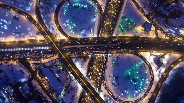 Транспортная развязка на пересечении Варшавского шоссе и МКАД