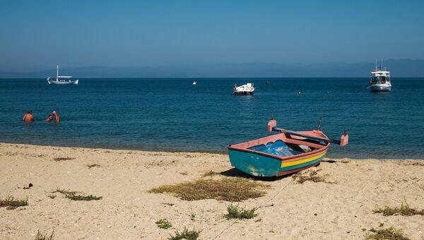 Пляж на греческом острове Тасос. Архивное фото