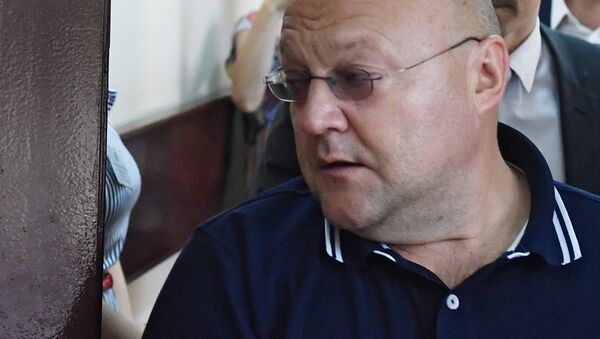 Александр Дрыманов в Басманном суде Москвы . 17 июля 2018