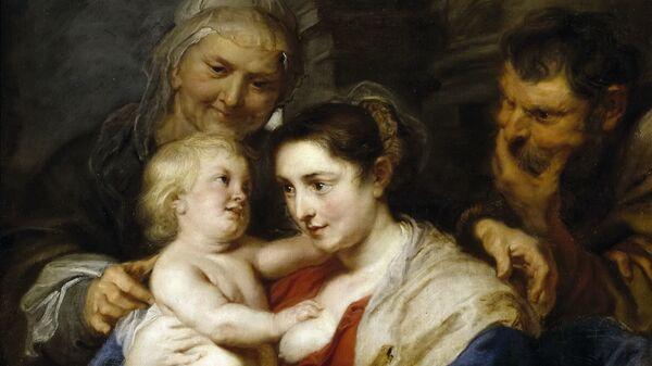 Картина Питера Пауля Рубенса Святое семейство и Святая Анна. Архивное фото