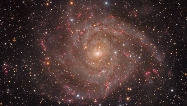 Работа фотографов Tom O'Donoghue, Olly Penrice The Hidden Galaxy, вошедшая в шорт-лист Insight Astronomy Photographer of the Year 2018