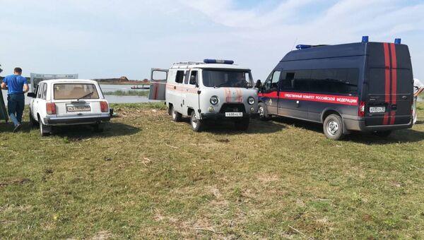 Место трагедии на реке Бузан вблизи села Калинино Астраханской области
