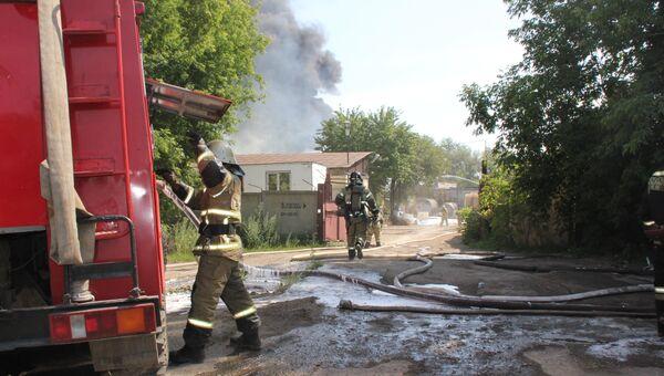 Тушение пожара на химпредприятии Нефтехимик в Перми. 26 июля 2018