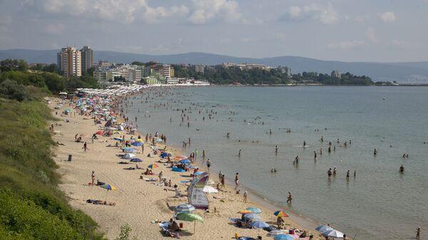 Пляж в городе Несебыр, Болгария
