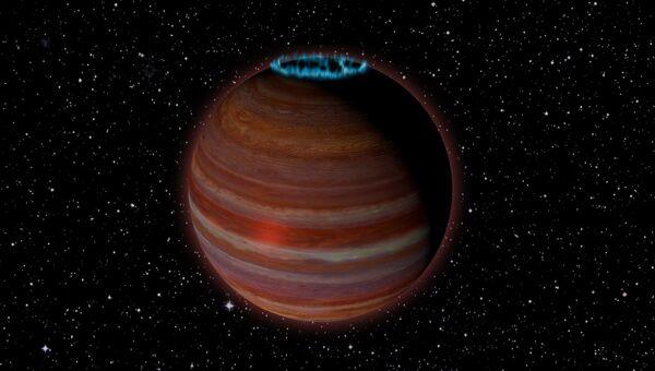 Так художник представил себе планету-«изгоя», превратившуюся в гигантский магнит