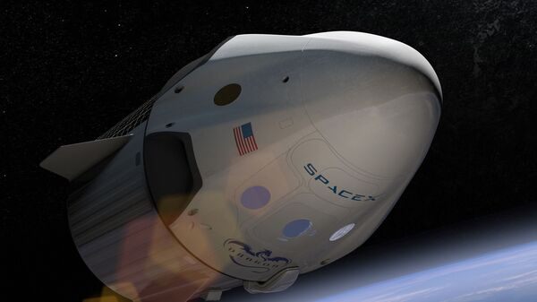 Эскиз космического корабля Crew Dragon