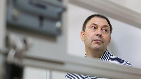 Руководитель портала РИА Новости Украина Кирилл Вышинский в зале апелляционного суда Херсонской области Украины. Архивное фото