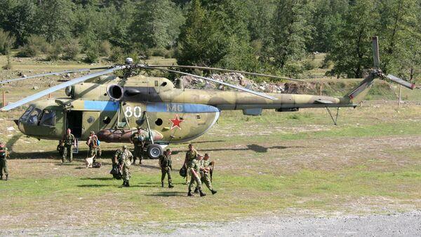 Российские миротворческие силы в Кодорском ущелье (село Генцриш, Абхазия). 26 августа 2008 года