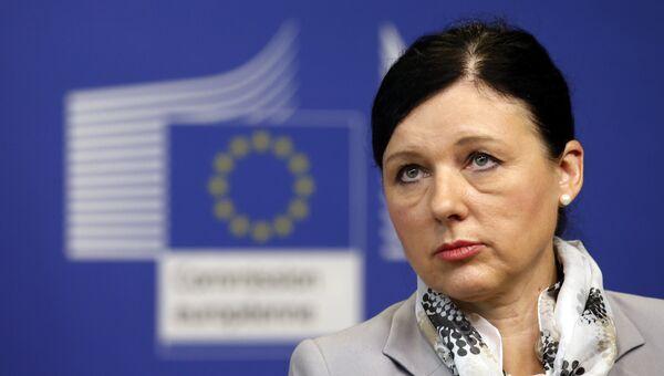 Еврокомиссар по вопросам юстиции Вера Юрова. Архивное фото