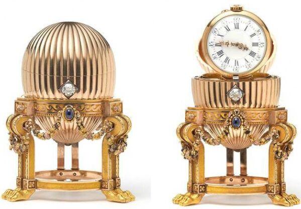Золотое яйцо с часовым механизмом от Vacheron Constantin