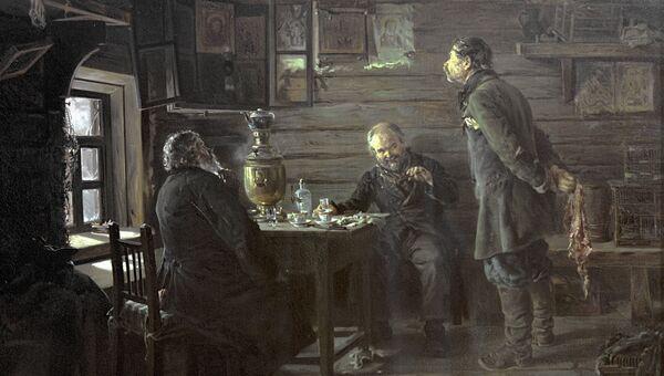 Репродукция картины Владимира Маковского Любители соловьев, 1872-1873