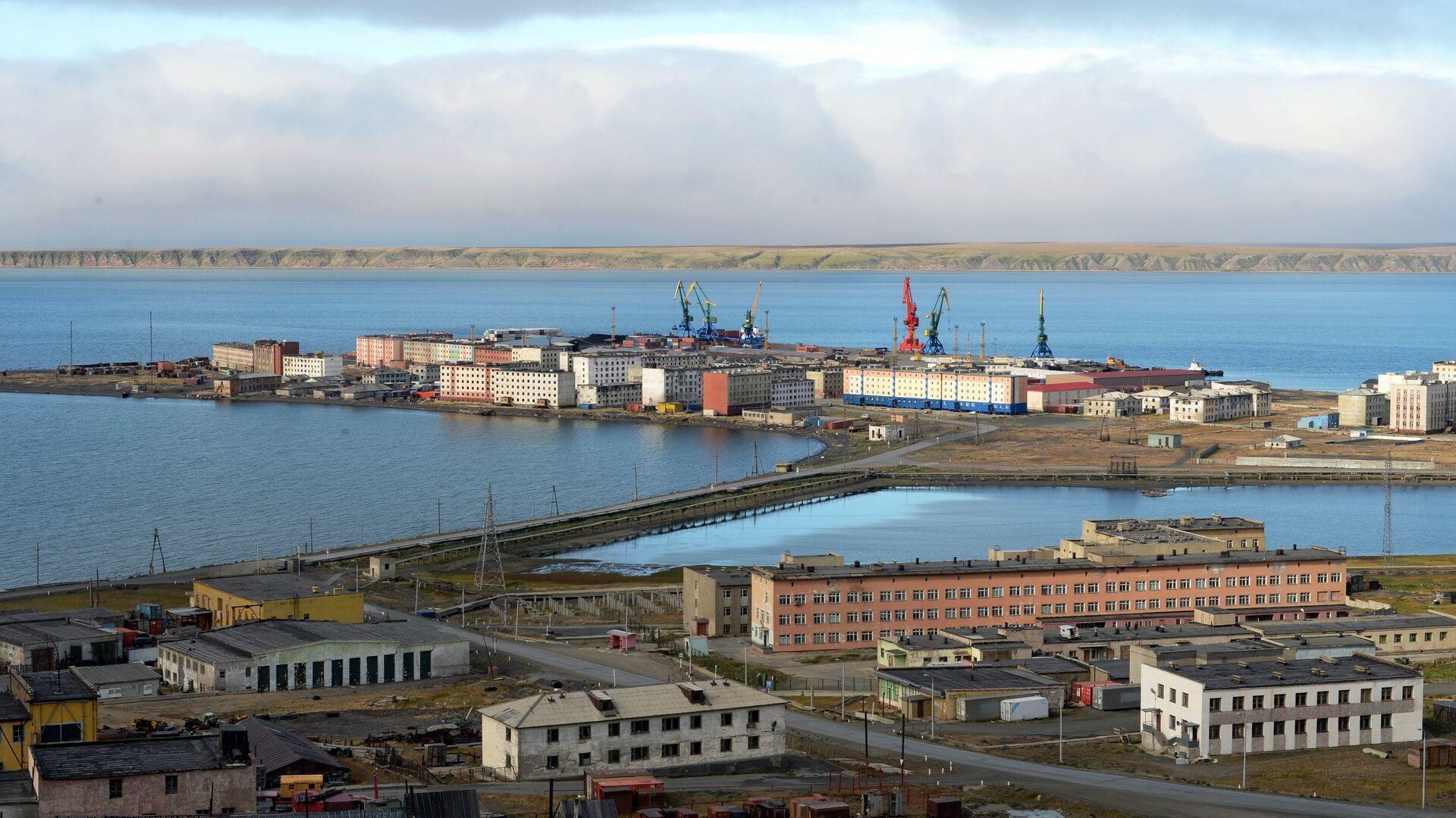 Вид на Морской порт города Певек - РИА Новости, 1920, 22.04.2021
