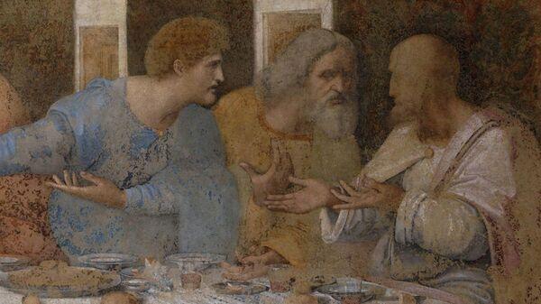 Фрагмент картины Леонардо да Винчи Тайная вечеря