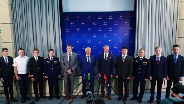 Начальник ФГБУ НИИ ЦПК имени Ю.А. Гагарина Павел Власов выступает на церемонии представления новых российских космонавтов. 10 августа 2018