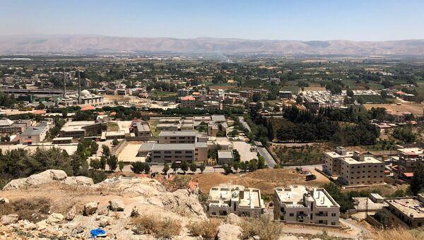 Долина Бекаа в Ливане, где размещены лагеря для сирийских беженцев. Архивное фото