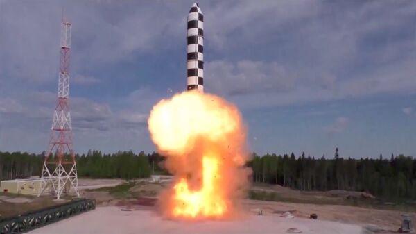 Испытание новой баллистической ракеты Сармат