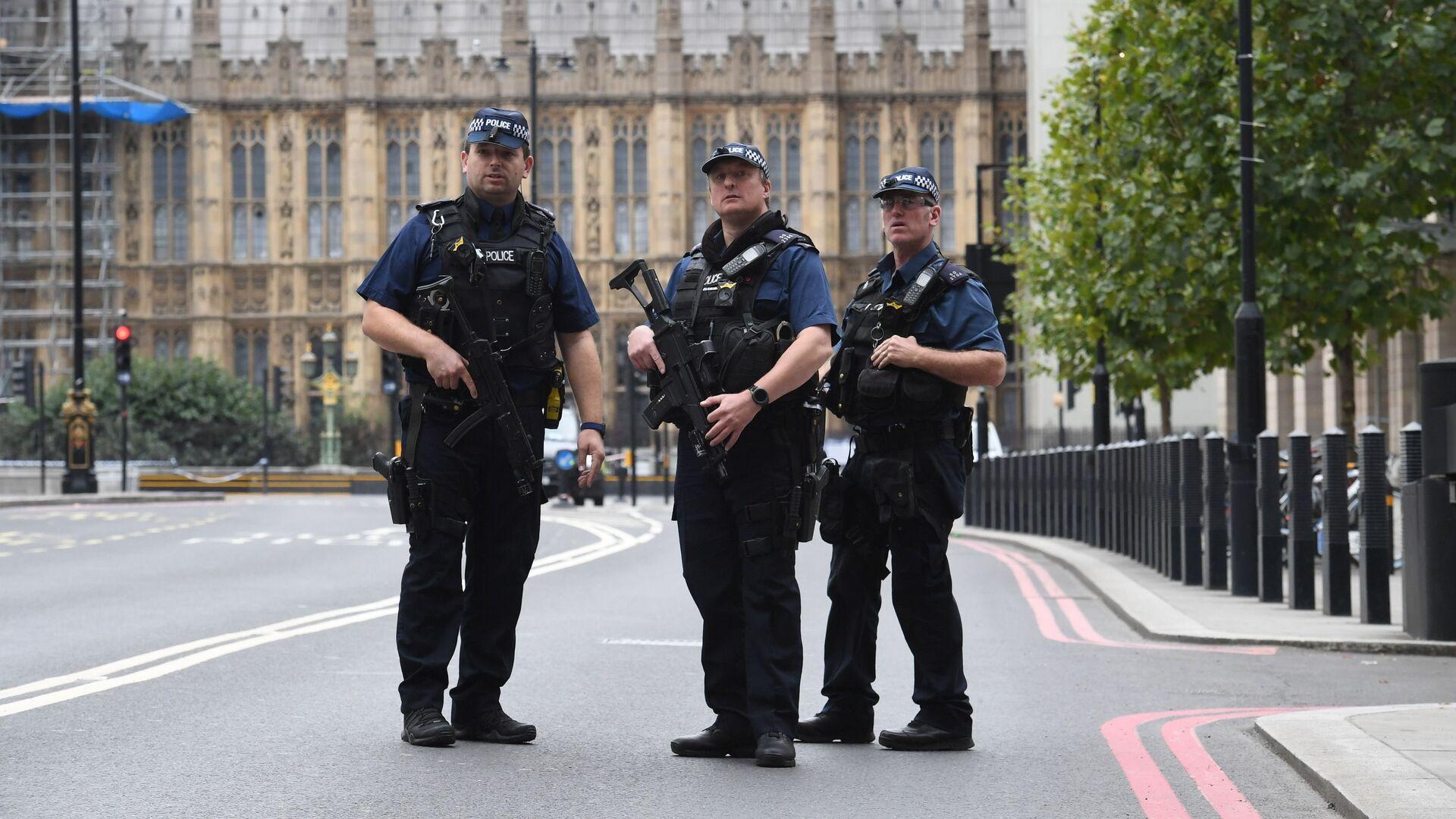 Сотрудники полиции у здания парламента в Лондоне, Великобритания. 14 августа 2018 - РИА Новости, 1920, 23.09.2020