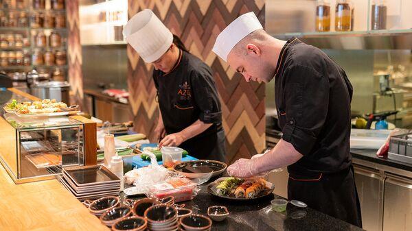 Кухня ресторана AZIA, Belmond Grand Hotel Europe, Санкт-Петербург