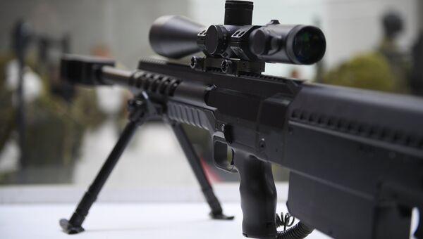 Крупнокалиберная снайперская винтовка (КСВ) на презентации новых разработок концерна Калашников в рамках IV Международного военно-технического форума Армия-2018 в КВЦ Патриот