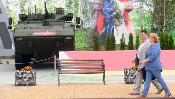 Посетители на выставке Армия России – завтра в рамках IV Международного военно-технического форума Армия-2018 в Кубинке. Архивное фото