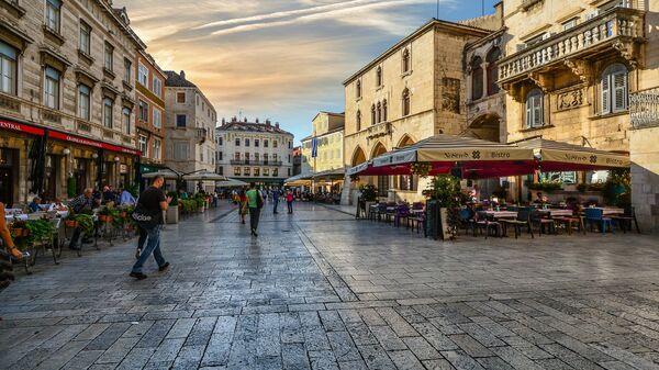 На улице Сплита в Хорватии
