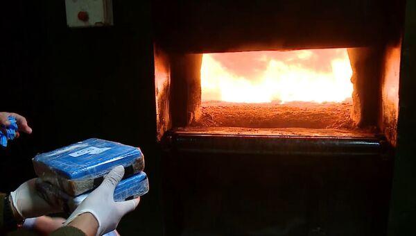 Кокаин в огне. В Аргентине сожгли крупную партию наркотиков