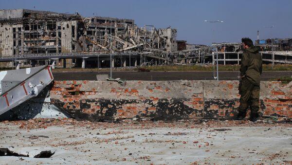 Разрушенный аэропорт в Донецке