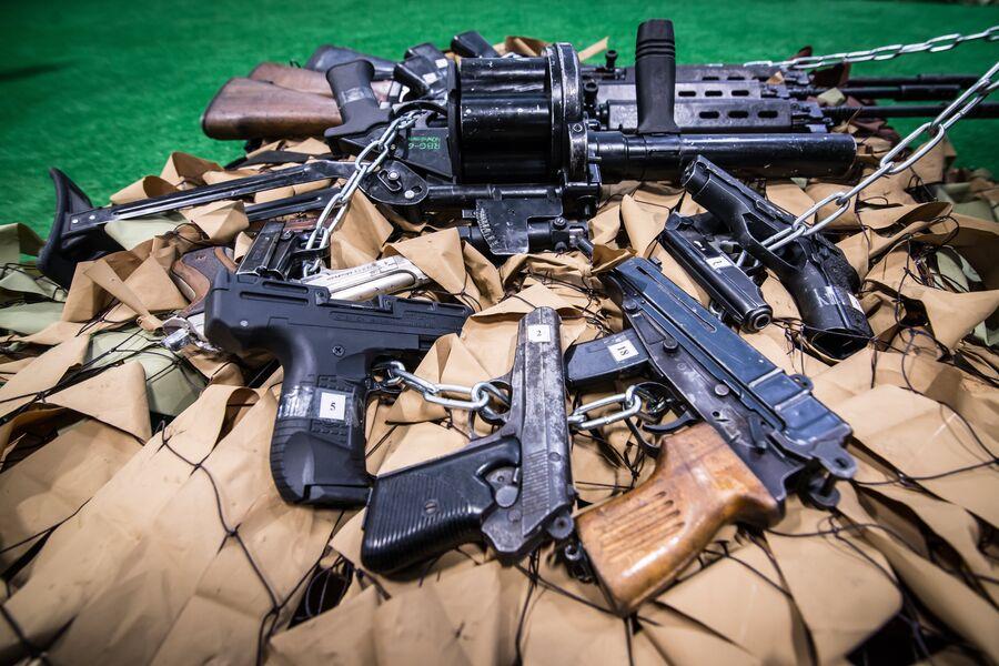 Трофейное оружие, захваченное армией САР