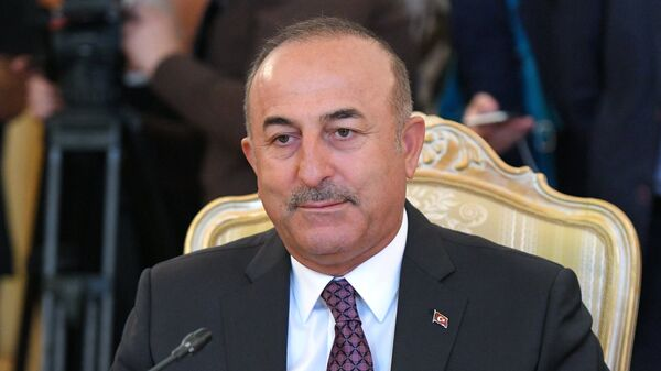 МИД Турции Мевлют Чавушоглу во время встречи с Сергеем Лавровым. 24 августа 2018