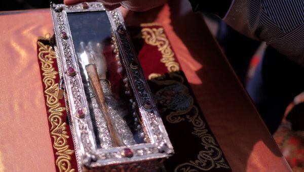 Ковчег с мощами святителя Спиридона Тримифунтского. Архивное фото