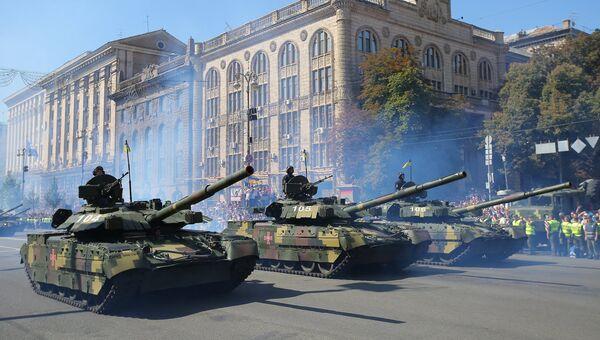 Военный парад в Киеве по случаю Дня независимости Украины. 24 августа 2018