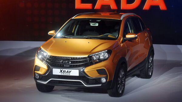 Автомобиль LADA XRAY Cross на Московском международном автомобильном салоне 2018