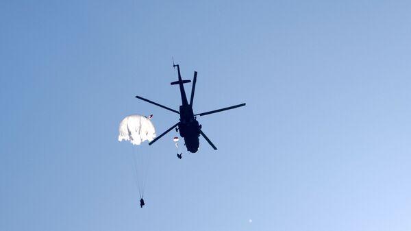 Отработка десантирования с вертолетов Ми-8АМТШ