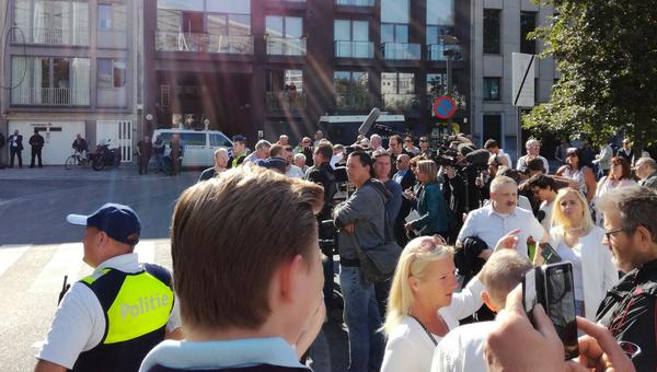 Сторонники Партии свободы в Антверпене, Бельгия. 2 сентября 2018