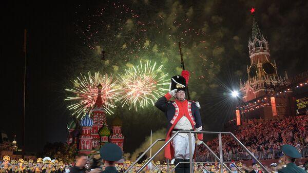 Закрытие XI Международного военно-музыкального фестиваля Спасская башня. Архивное фото