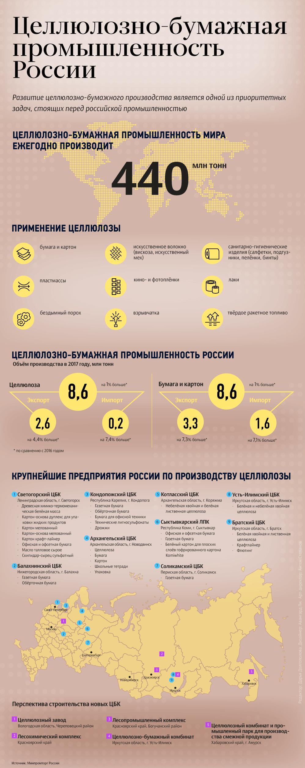 Целлюлозно-бумажная промышленность в России